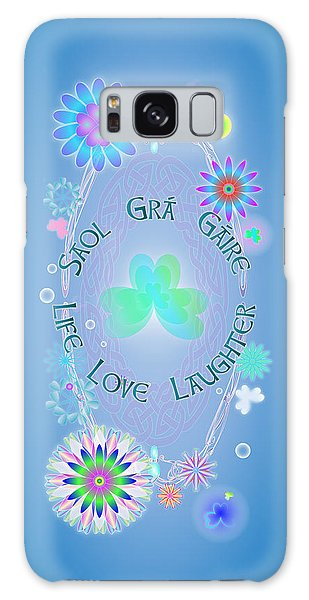 Life Love Laughter Galaxy Case