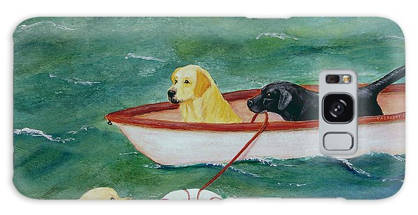 Lifeboat Labrador Dogs To The Rescue Galaxy Case