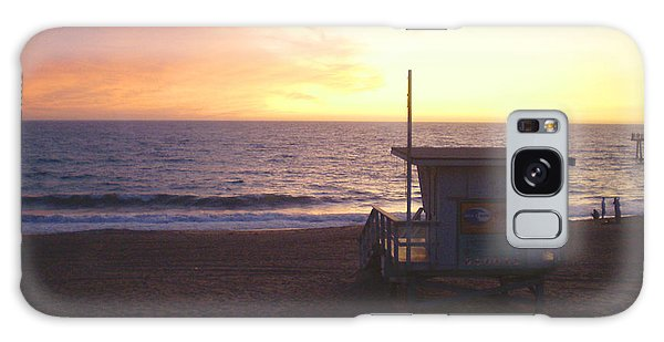 Lifeguard Shack At Sunset Galaxy Case by Mark Barclay