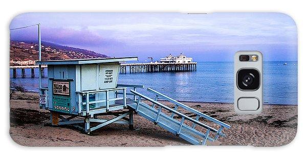 Lifeguard Tower And Malibu Beach Pier Seascape Fine Art Photograph Print Galaxy Case by Jerry Cowart