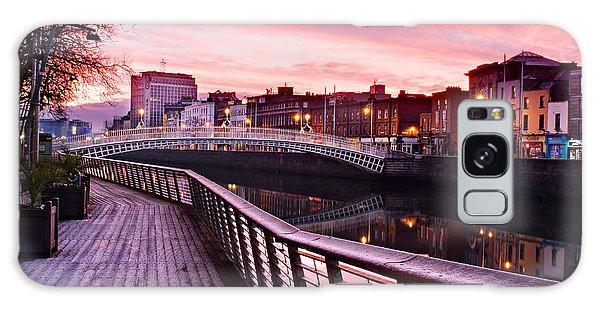 Galaxy Case featuring the photograph Liffey Boardwalk At Dawn - Dublin by Barry O Carroll