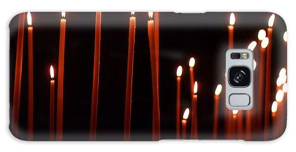 Light A Candle Say A Prayer Galaxy Case