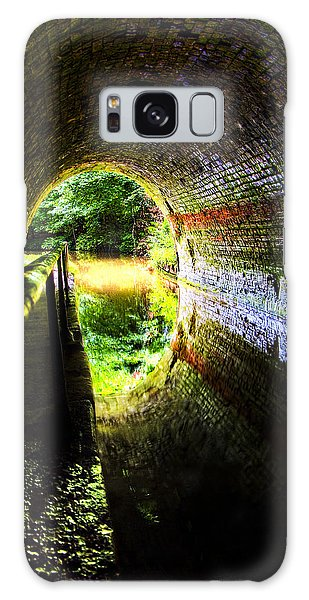 Handrail Galaxy Case - Light At The End Of The Tunnel by Meirion Matthias