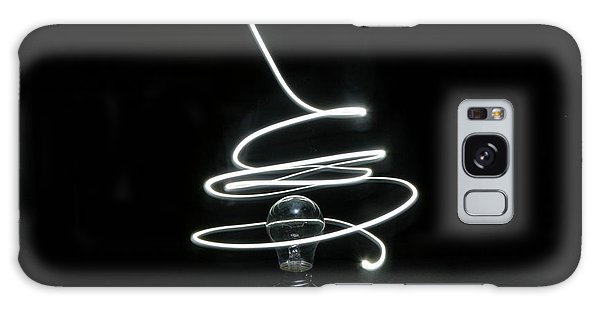 Light Bulb Light Painting Galaxy Case by Barbara West