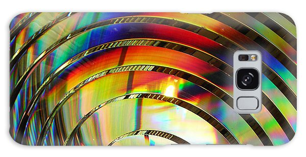Light Color 2 Prism Rainbow Glass Abstract By Jan Marvin Studios Galaxy Case