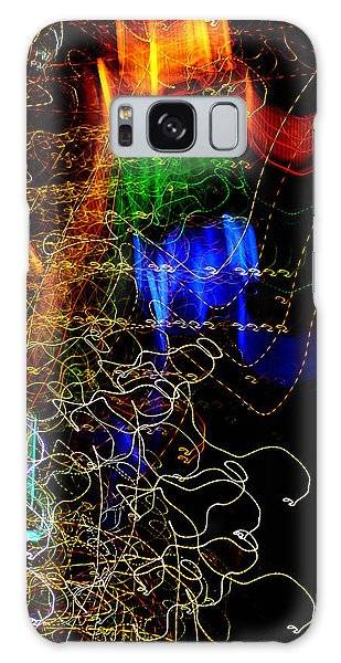 Light Graffitti Resembling Sea Horses Galaxy Case