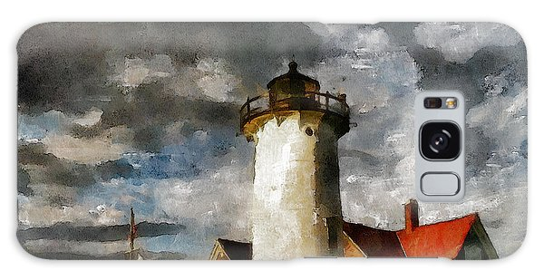 Light House In A Storm Galaxy Case