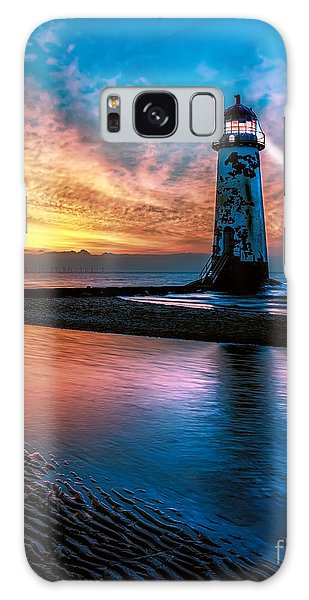 Light House Sunset Galaxy Case