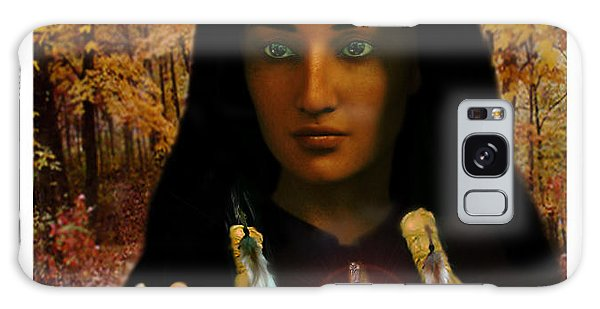Saint Kateri Tekakwitha Light In The Darkness Galaxy Case by Suzanne Silvir