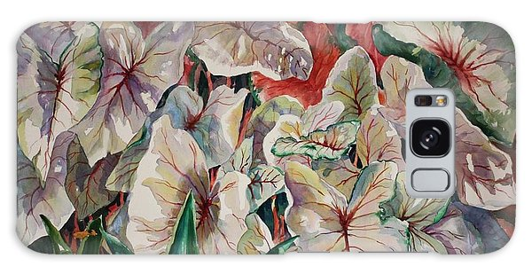 Light Play Caladiums Galaxy Case by Roxanne Tobaison