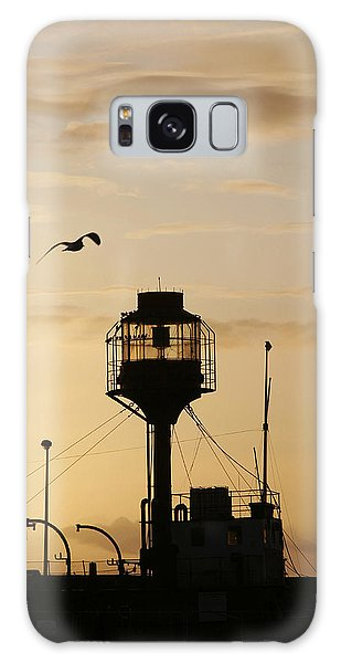 Light Ship Silhouette At Sunset Galaxy Case
