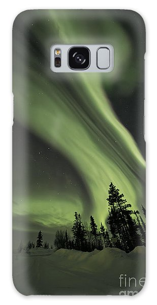 Light Swirls Over The Midnight Dome Galaxy Case by Priska Wettstein