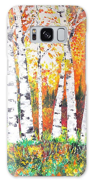 Sunrise On Birch Galaxy Case
