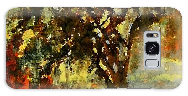Light Through The Moss Tree Landscape Painting Galaxy Case