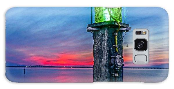 Light Tower In Evening Gloom Galaxy Case by Alex Weinstein