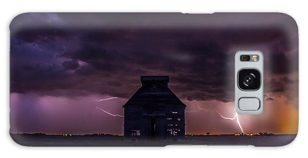 Lightening Against The Barn Galaxy Case