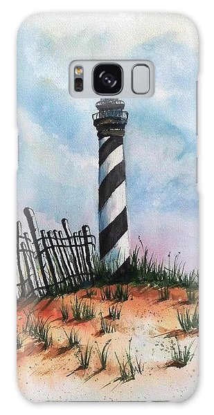 Lighthouse And Fence Galaxy Case