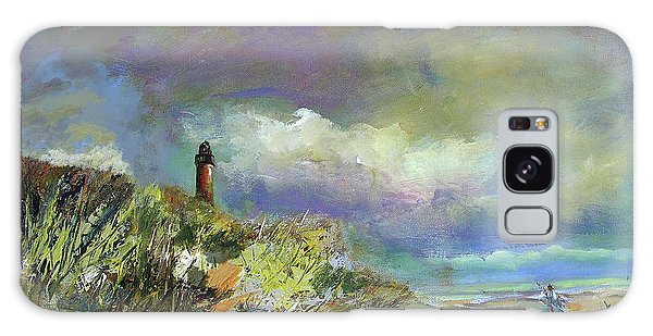 Lighthouse And Fisherman Galaxy Case