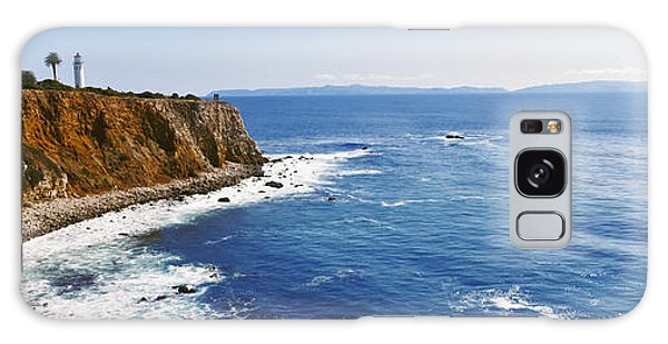 Lighthouse At A Coast, Point Vicente Galaxy Case