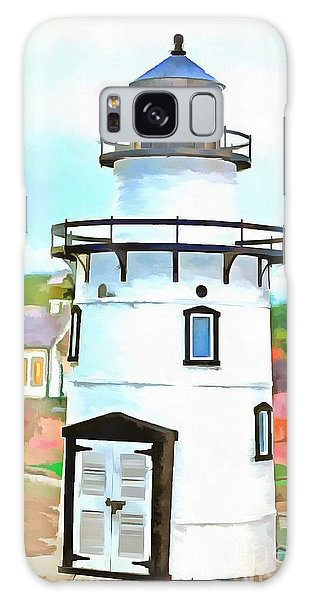 Lighthouse At Old Saybrook Point Galaxy Case
