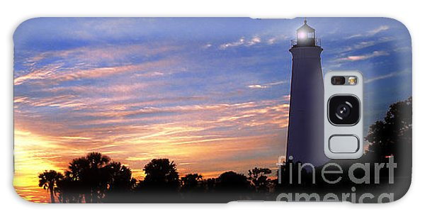 Lighthouse At Sunset Galaxy Case