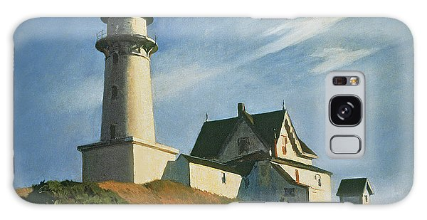 Lighthouse Galaxy Case - Lighthouse At Two Lights by Edward Hopper