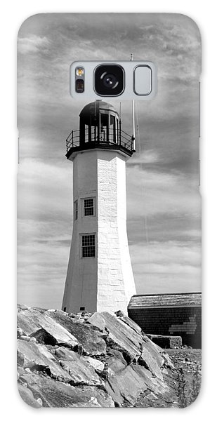 Lighthouse Black And White Galaxy Case