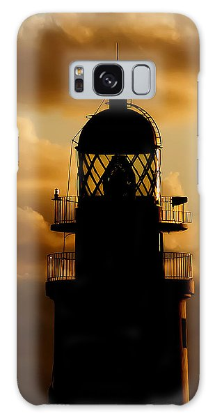 lighthouse dawn in the north coast of Menorca Galaxy Case