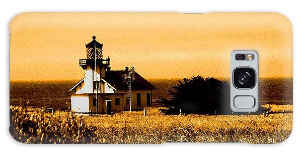 Lighthouse In Autumn Galaxy Case