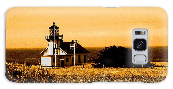 Lighthouse In Autumn Galaxy Case