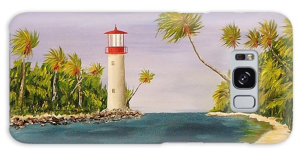 Lighthouse In The Tropics Galaxy Case