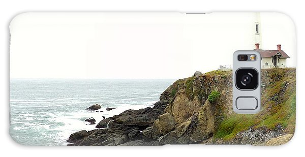 Lighthouse Keeping Watch Galaxy Case by Carla Carson