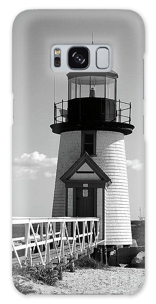 Lighthouse On Nantucket Bw Galaxy Case