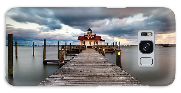 Lighthouse - Outer Banks Nc Manteo Lighthouse Roanoke Marshes Galaxy Case