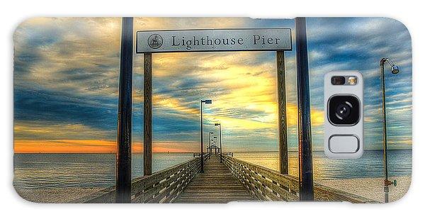 Lighthouse Pier Galaxy Case