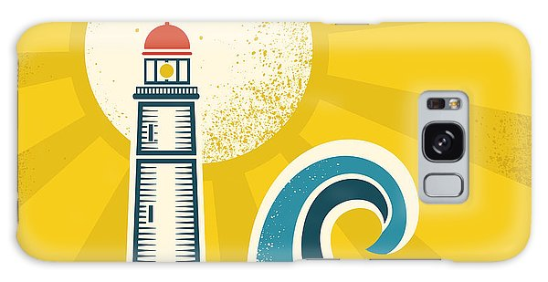 Beam Galaxy Case - Lighthouse Poster.vector Vintage by Tancha