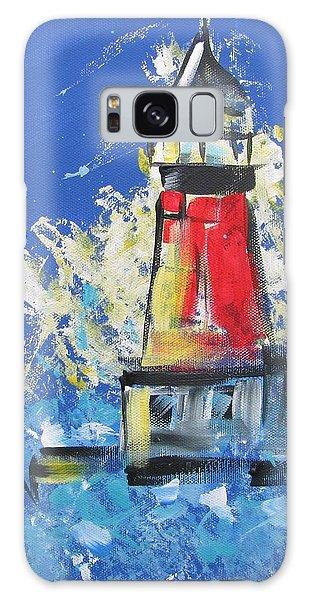 Lighthouse Splash Galaxy Case by Terri Einer