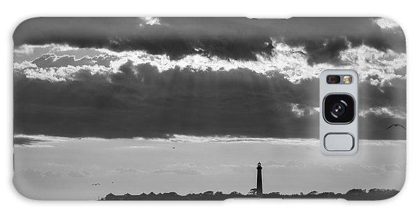 Cape May Galaxy Case - Lighthouse Sun Rays Bw by Michael Ver Sprill