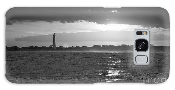 Cape May Galaxy Case - Lighthouse Sun Reflections Bw by Michael Ver Sprill