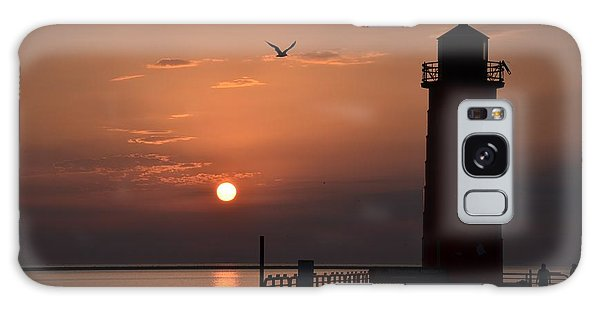 Lighthouse Sunrise Galaxy Case