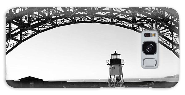 Lighthouse Under Golden Gate Galaxy Case by Holly Blunkall