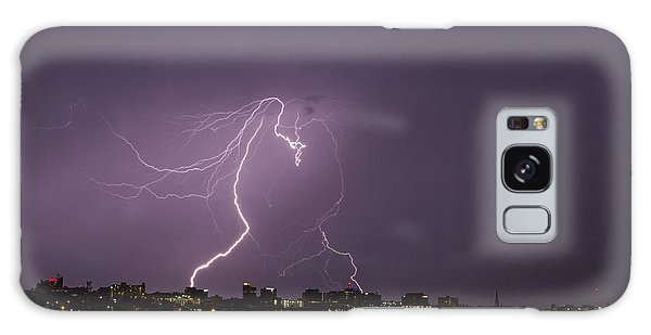 Lighting Over Portland Maine Galaxy Case