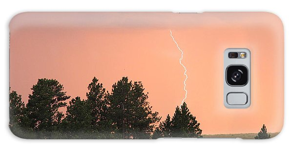 Lighting Strikes In Custer State Park Galaxy Case
