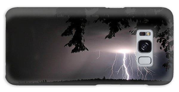 Lightning At Night Galaxy Case by Barbara West