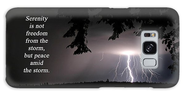 Lightning At Night - Inspirational Quote Galaxy Case