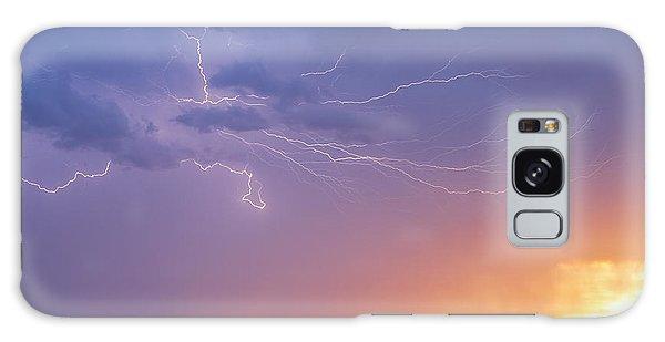 Lightning At Sunset Galaxy Case