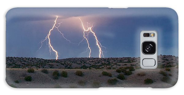 Lightning Dance Over The New Mexico Desert Galaxy Case by Mary Lee Dereske