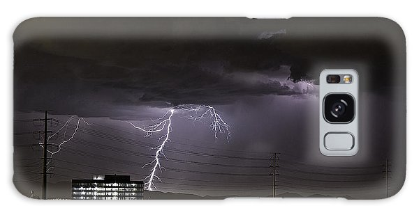 Galaxy Case featuring the photograph Lightning Over Las Vegas by James Sage