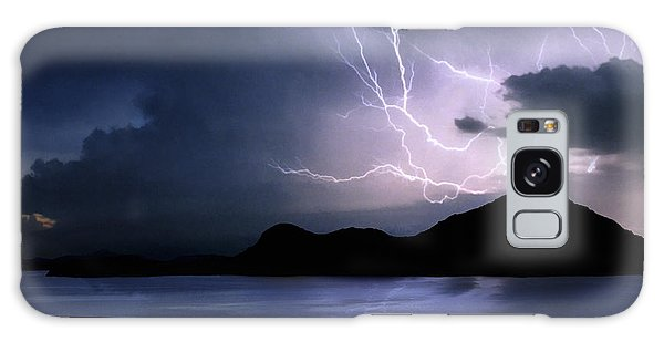 Lightning Over Quartz Mountains - Oklahoma Galaxy Case