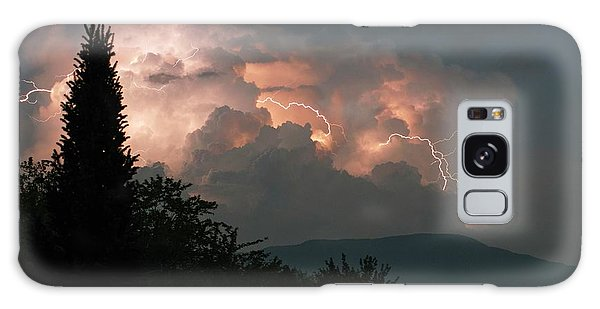 Lightning Storm Over Vermont Galaxy Case